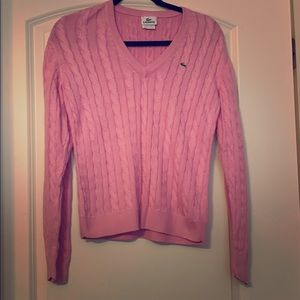 Lacoste V neck sweater Size 42